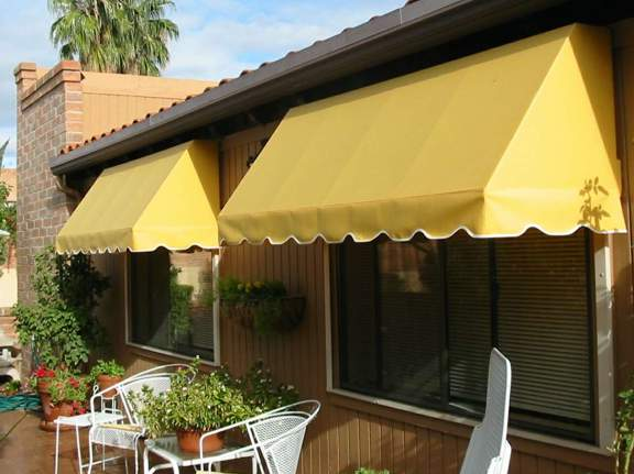 Bright Yellow Patio Awnings to Spruce Up The Yard