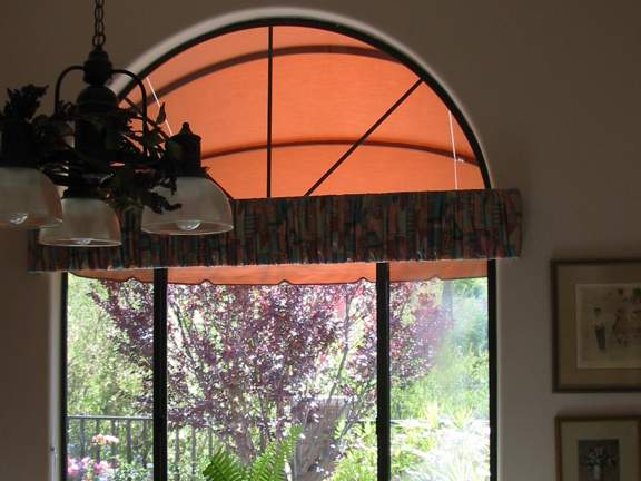Inside View of Dome Retractbale Awning