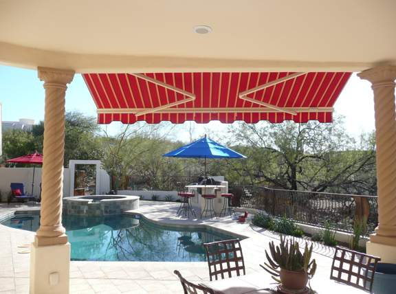 Partially Extended - Patio Shade