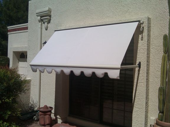 Beautiful Recover of Old Retractable Window Awning... Made New Again!