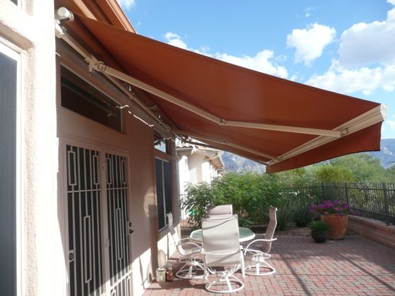 Extra long awning for an extra long patio
